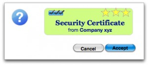 Image of a security certificate
