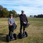 Image of Annette and Chris on Segways